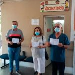 Funcionarios de la cartera de Salud fueron vacunados
